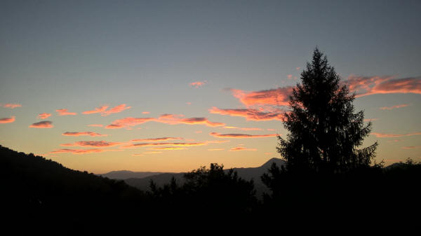 Sunset towards the Esterel Mountains