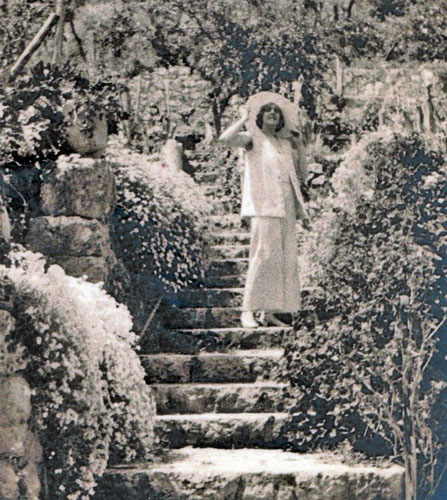 Winifred on the garden steps around 1932