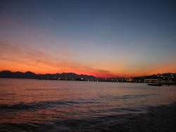 Sunset over Cannes