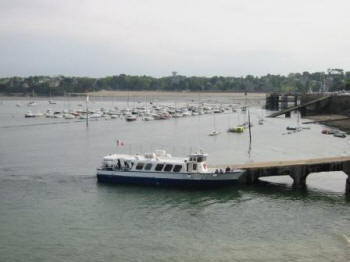 St.Malo - Dinard ferry arrives at Dinard in May 2007.