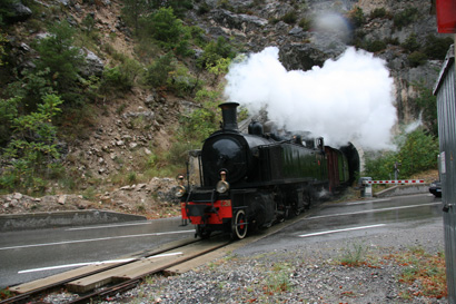 The steam train much as it would have looked in the Fortescue's