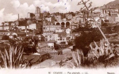 Postcard view of Grasse - early 1900's