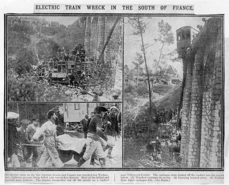 1913 accident near Villeneuve-Loubet