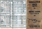 Grasse - Cannes final timetable 1938