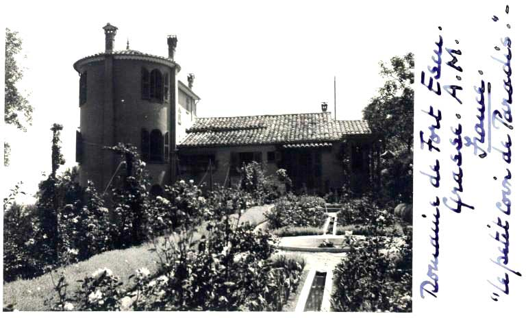 From the rose garden at the rear of The Domaine in 1935