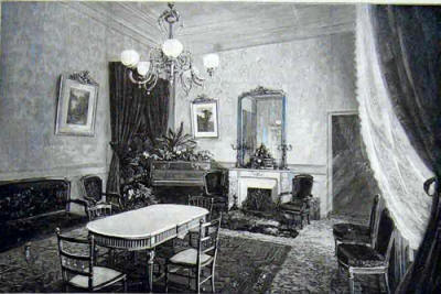The private Drawing Room in the Grand Hotel Grasse in 1891