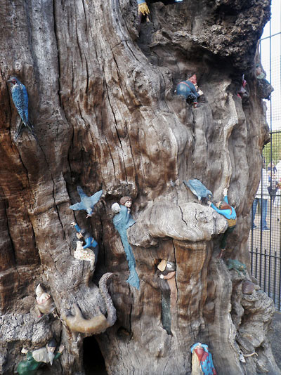The Elfin Oak in Kensington Gardens - detail