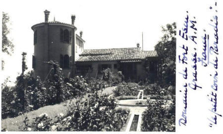 Rear of The Domaine from the rose garden in 1935.