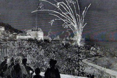 Birthday party fireworks for Princess Beatrice during the stay in 1891