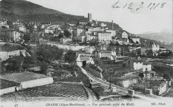 CDP line entering the tunnel under Grasse in 1918