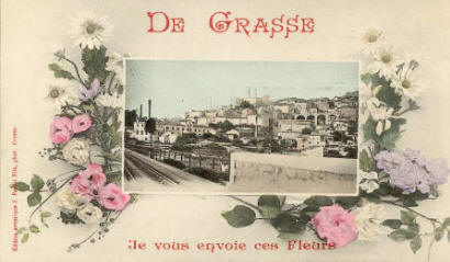 Grasse from viaduct of the CFDP