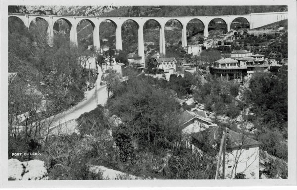 The spectacular Pont du Loup viaduct which was blown up during WWII