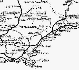 Map of rail network c1921