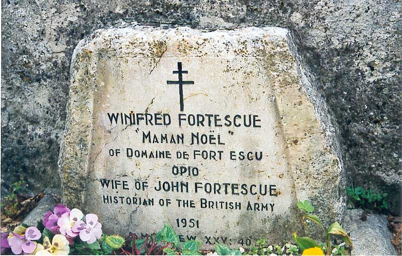 Winifred's headstone at Opio