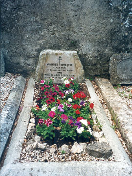 Flowers on Winifred's grave