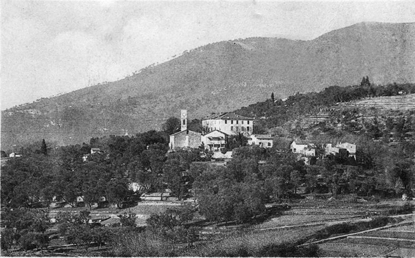Early view of Opio village - date unknown