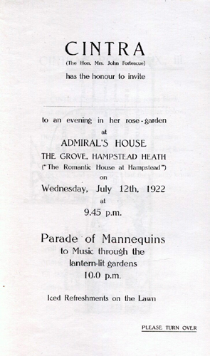 Invitation to a Cintra evening in the Rose Garden