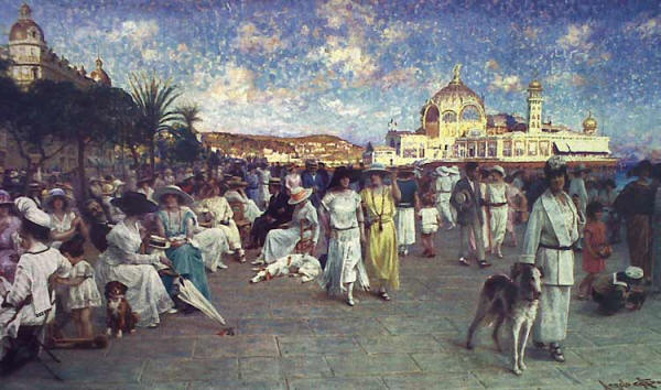 The Promenade des Anglais in its heyday - note the pier