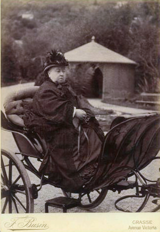 Queen Victoria in avenue Victoria, Grasse, 1891