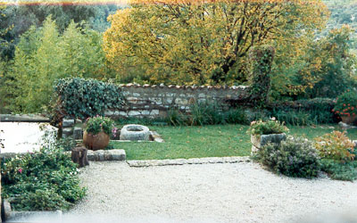 Garden off the courtyard
