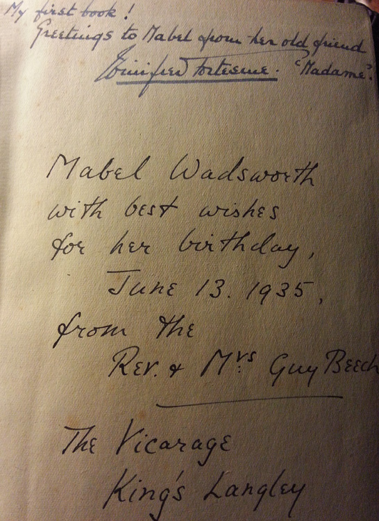 1935 original hard back edition with inscriptions