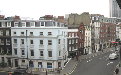 Shepherd Market from Curzon St, mayfair