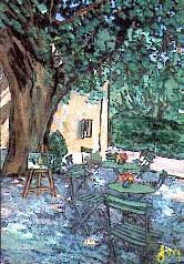 Le Cabanon - Expo Cafe, Opio by Mme. J. Meyer